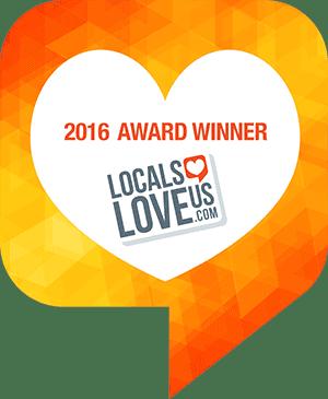 Locals Love Us Winner Badge