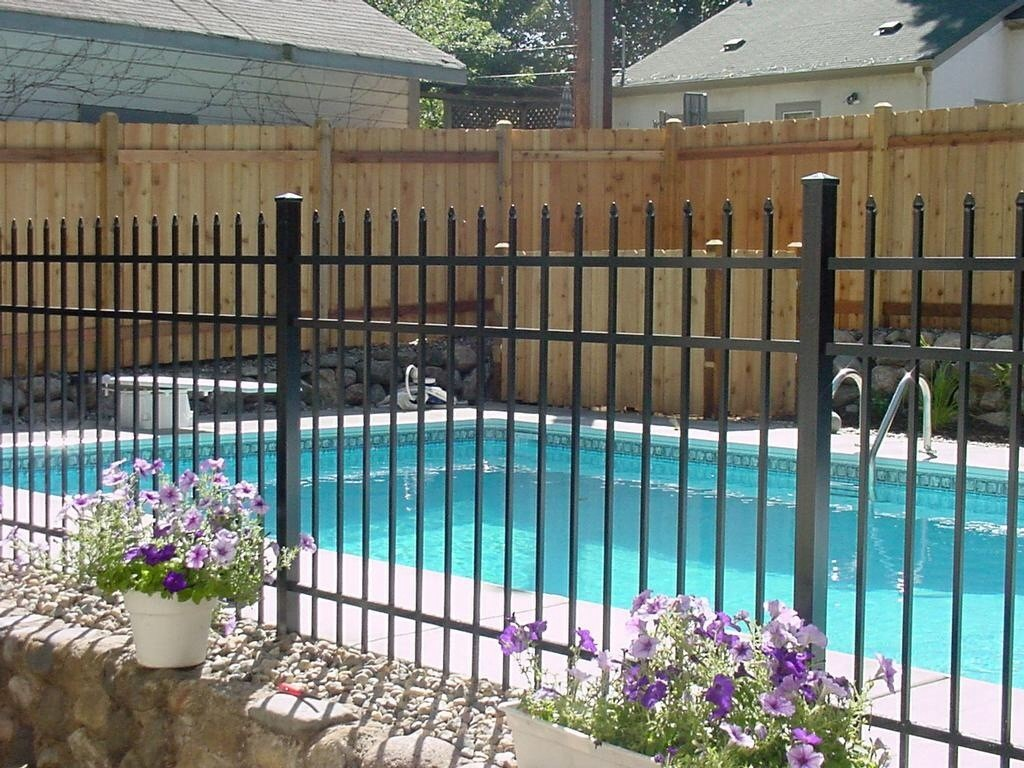 Fence by pool